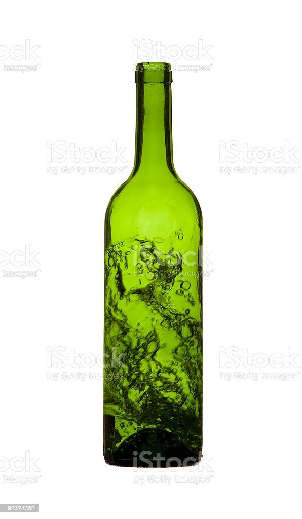 Green Splash Bottle royalty-free stock photo
