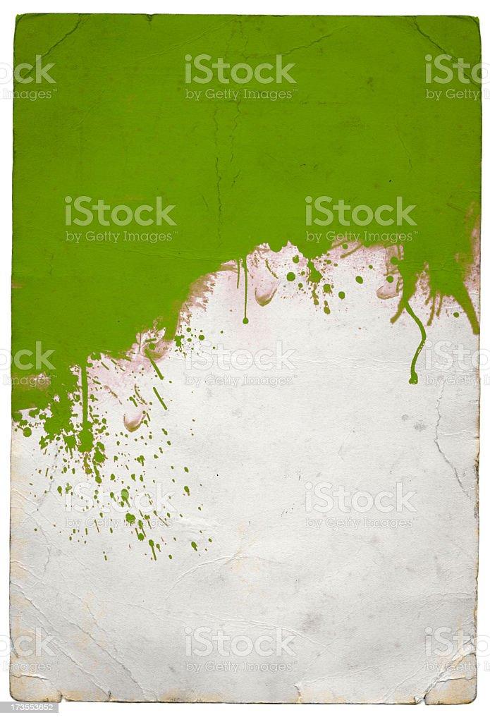 Green splat royalty-free stock photo