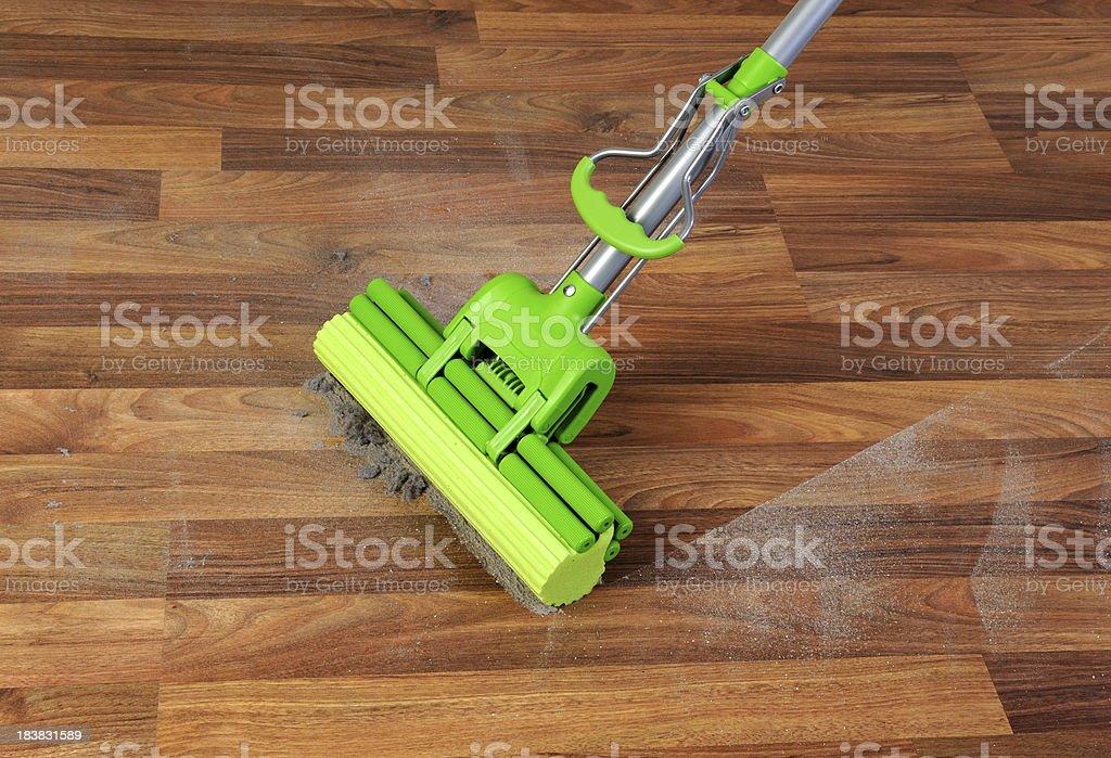 Green sponge mop royalty-free stock photo