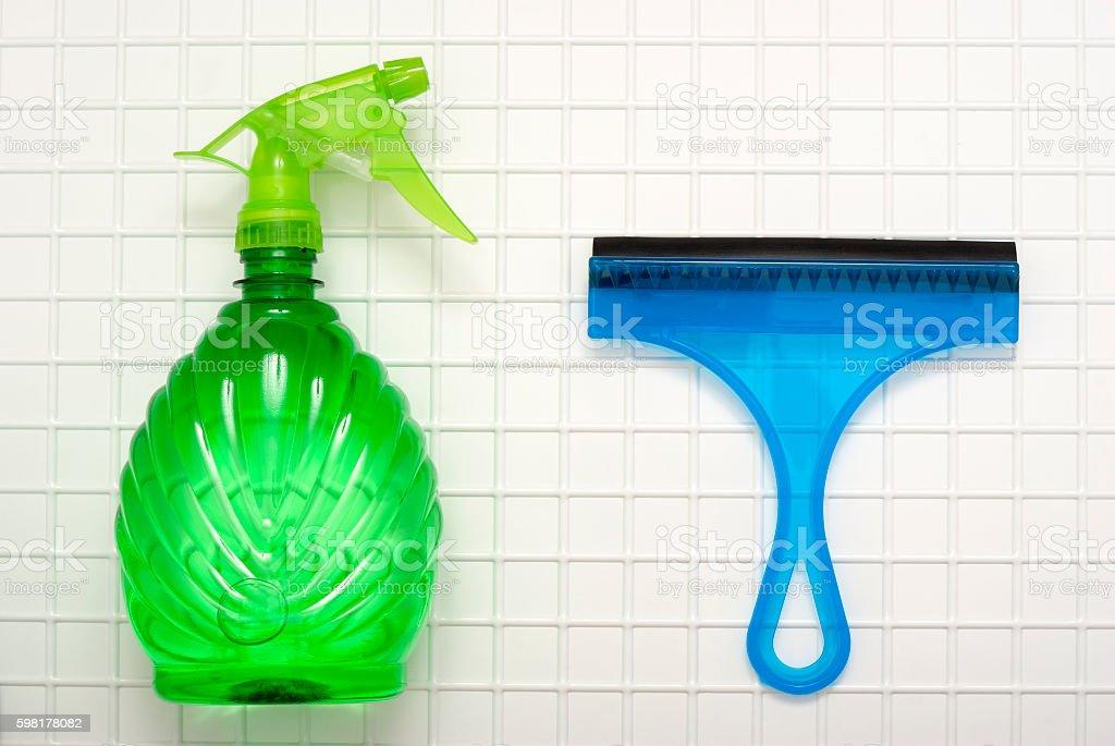 Green spray royalty-free stock photo