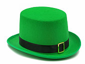 green st. patricks day hat isolated on white background