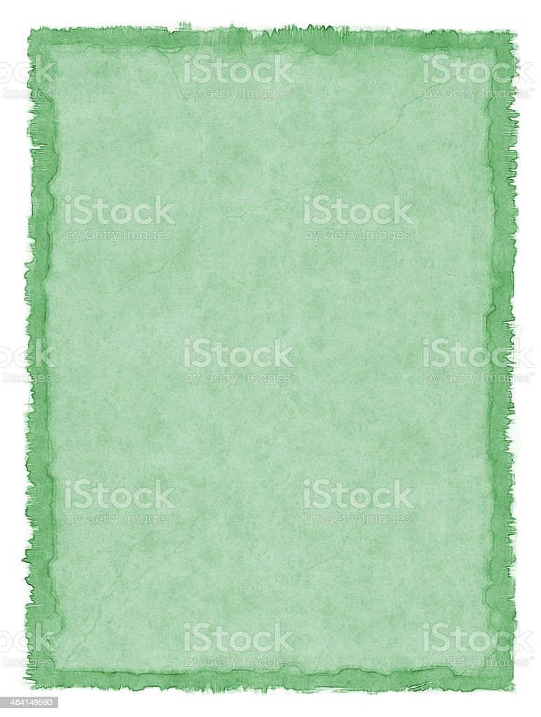 Green Stained Paper stock photo