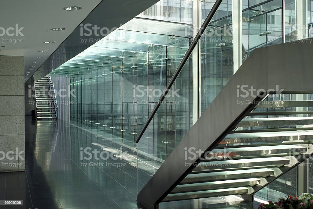 green staircase royalty-free stock photo