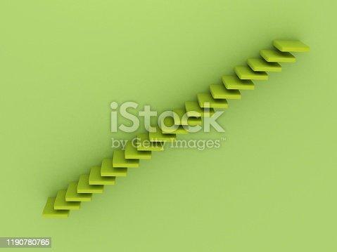 1154986671 istock photo Green stairs 1190780765