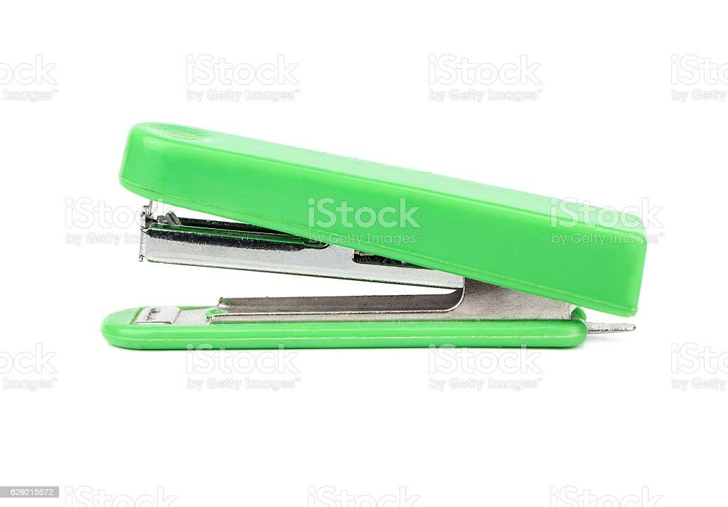 Green stapler isolate - fotografia de stock