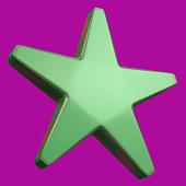 green star 3d rendering