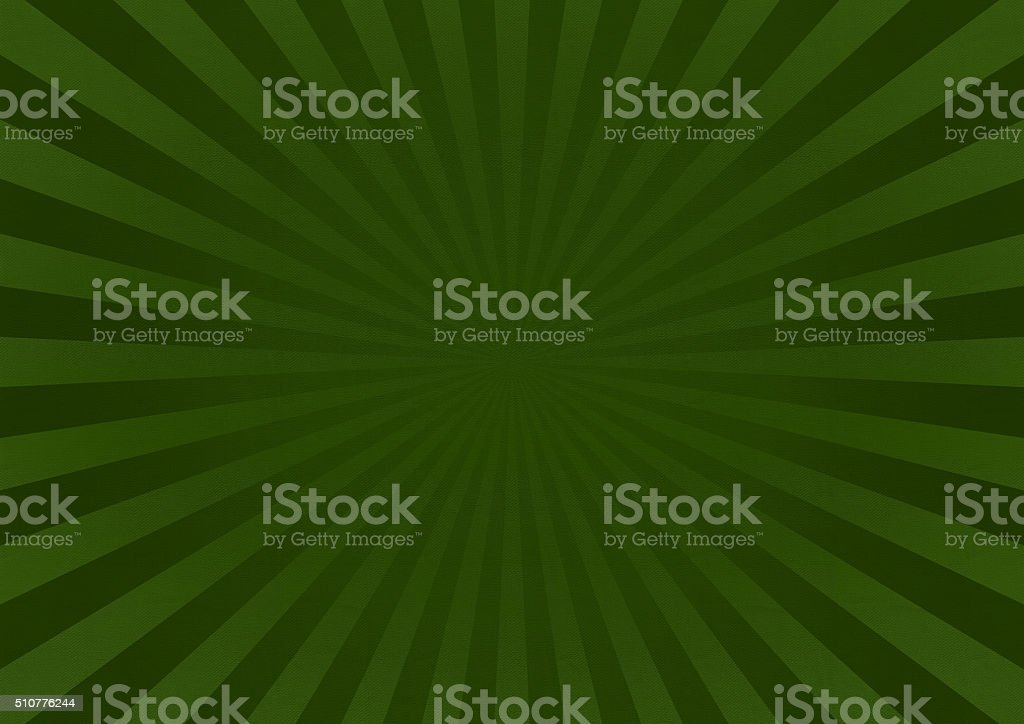 Green Star Burst Background With Fabric Texture stock photo