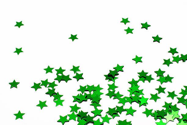 Green Stars stock photo