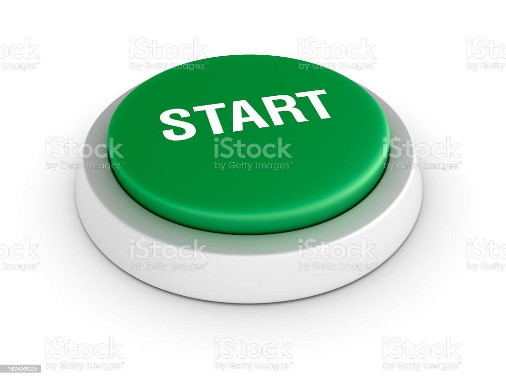 Green Start Button royalty-free stock photo
