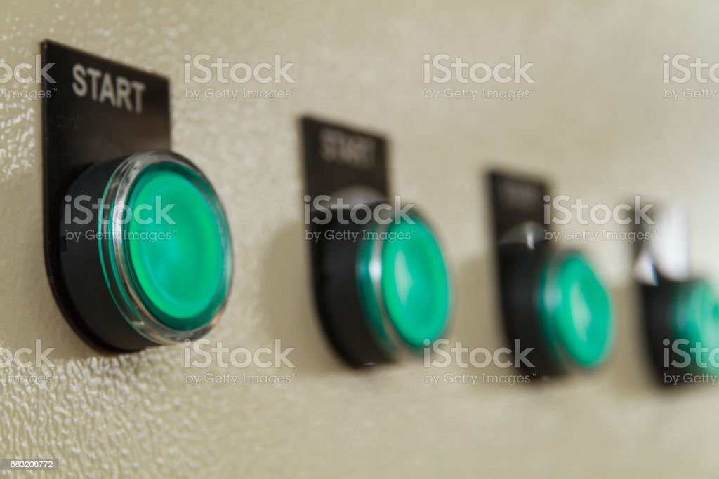 Green start buttons. foto de stock royalty-free