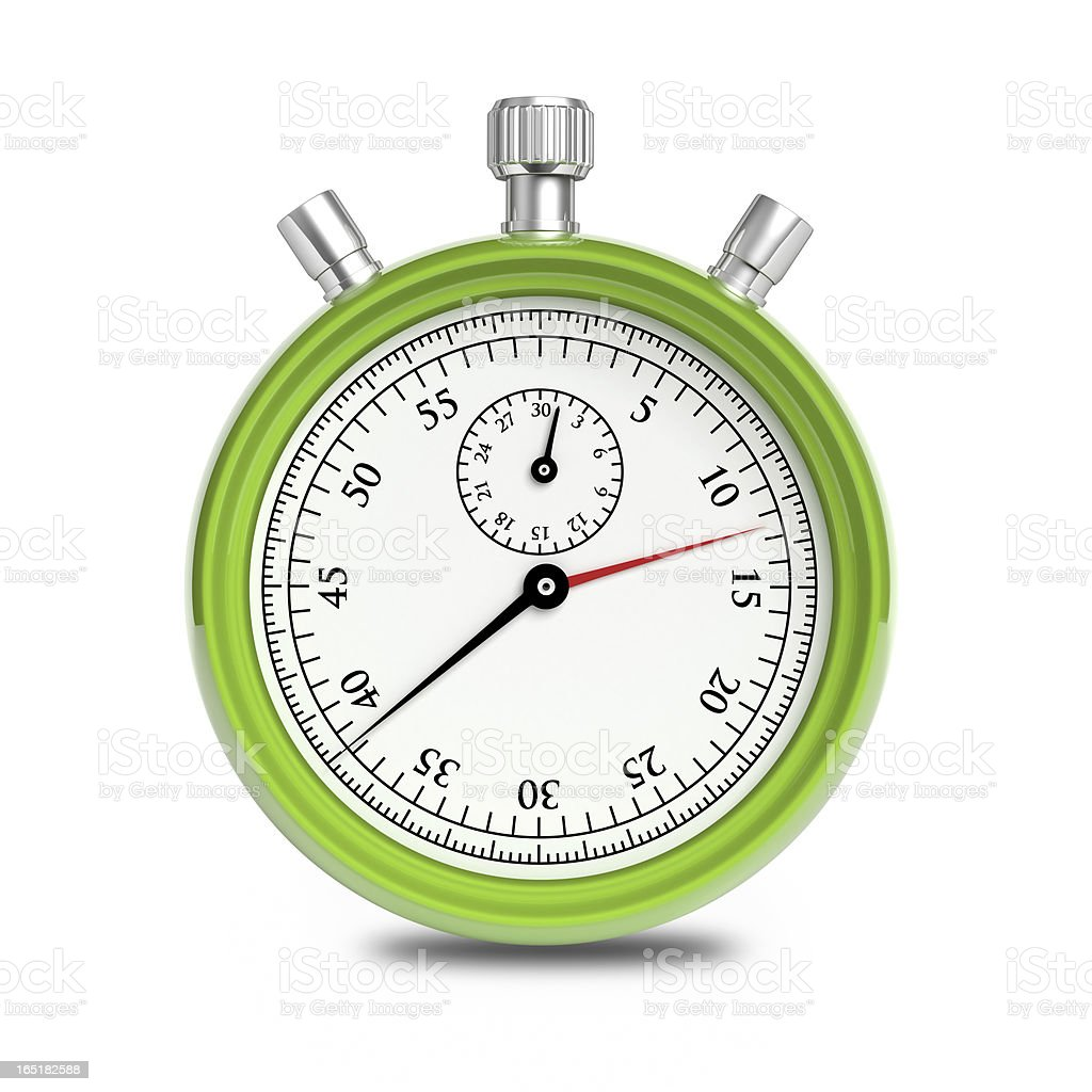 Green Stopwatch stock photo