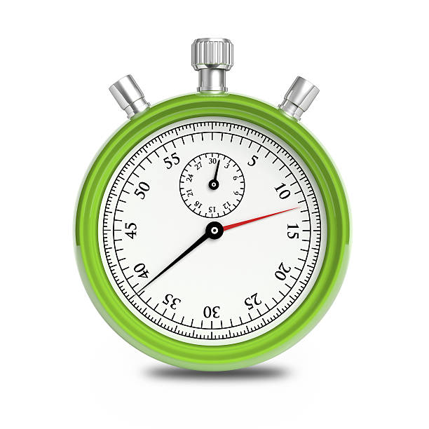 green stopwatch - stop watch stock photos and pictures