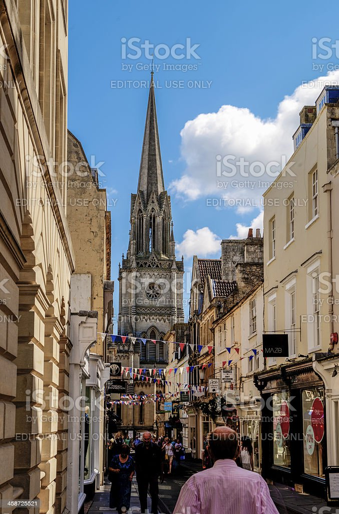 Green Street, Bath stock photo