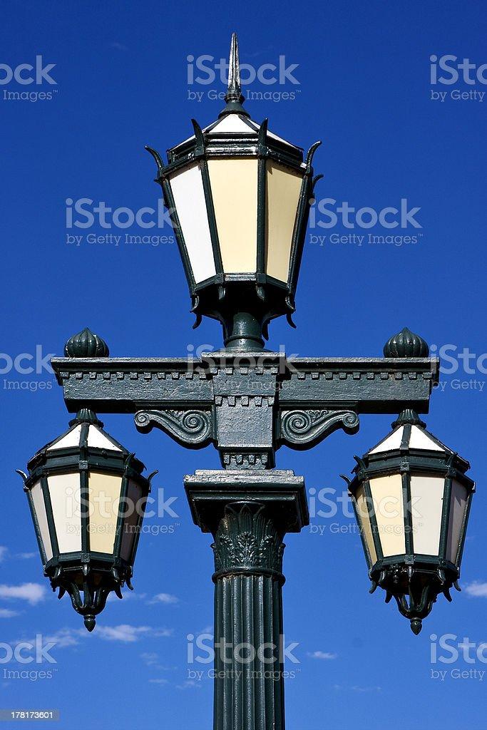 green street lamp royalty-free stock photo