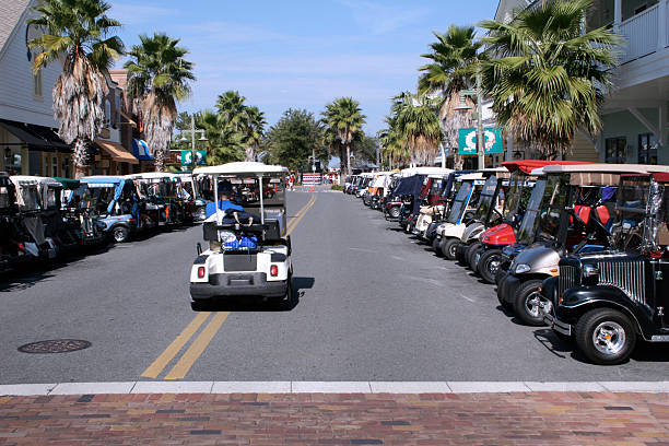 Green Street  golf cart stock pictures, royalty-free photos & images