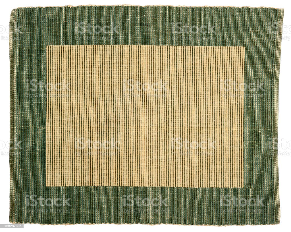 green striped fabric as frame royalty-free stock photo