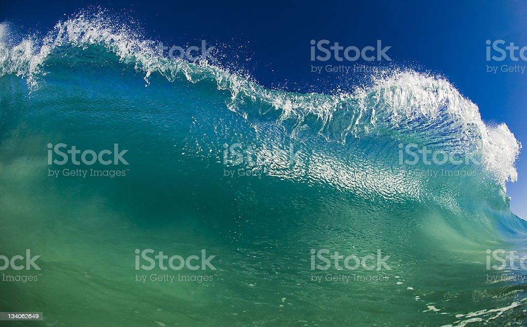 Green Surf stock photo