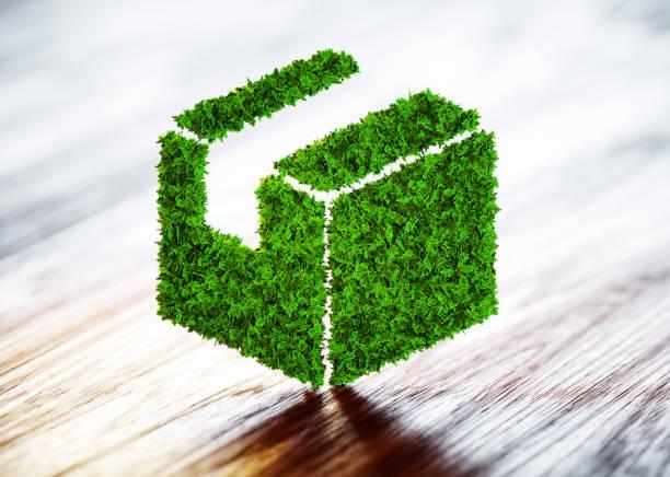 Concepto de transporte sostenible verde. Ilustración 3D. - foto de stock