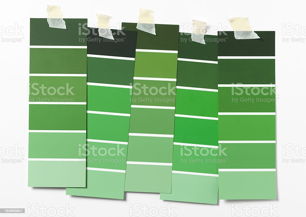 green swatches stock photo