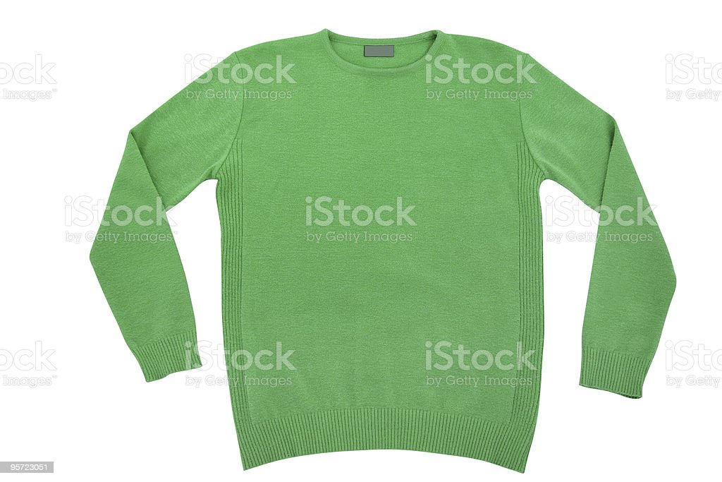 green sweater isolated royalty-free stock photo