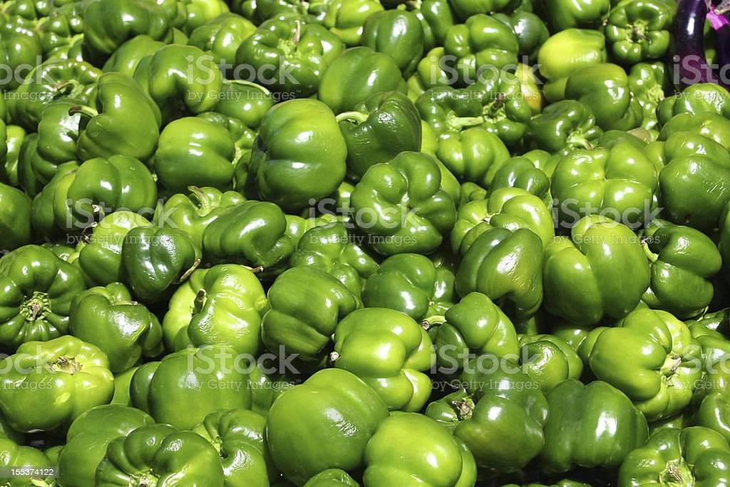 Green sweet pepper, cooking raw material. royalty-free stock photo