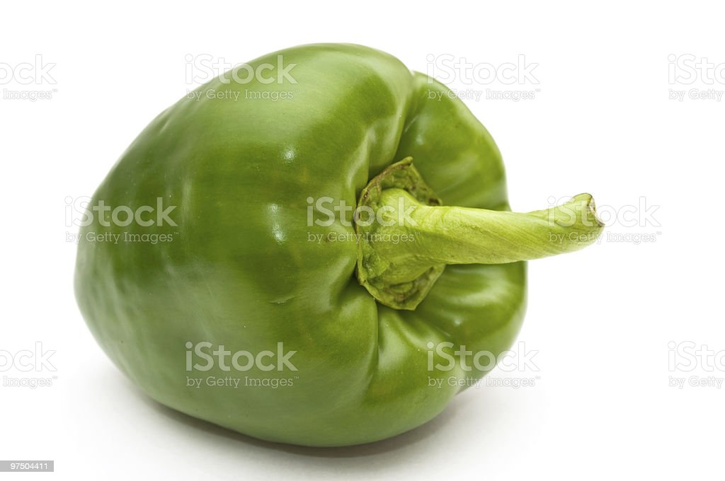 Green sweet pepper. royalty-free stock photo