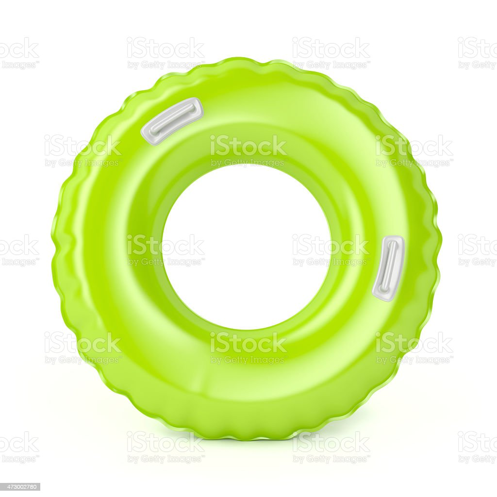 Green swim ring stock photo