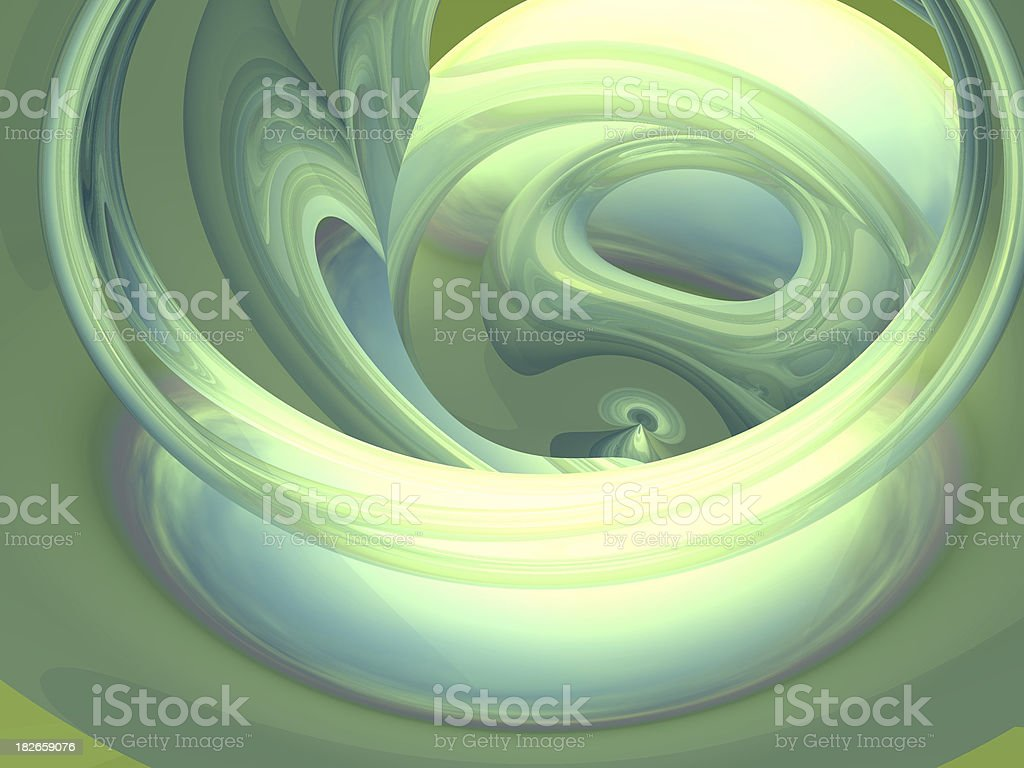 Green Swirl royalty-free stock photo