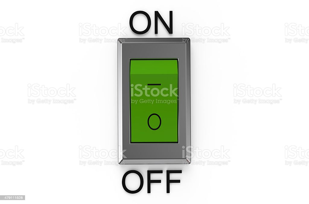green  switch stock photo