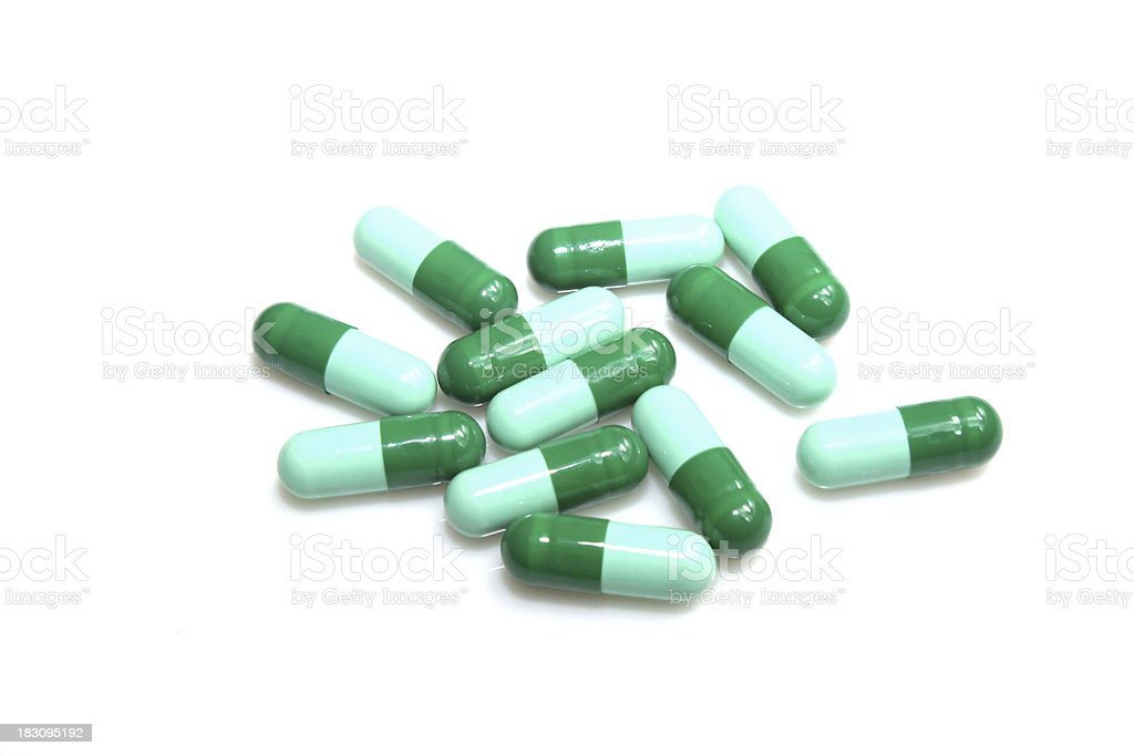 green tablet drug royalty-free stock photo