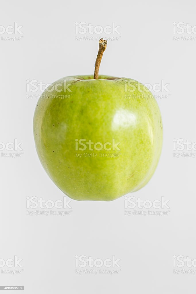 green tasty fresh apple royalty-free stock photo