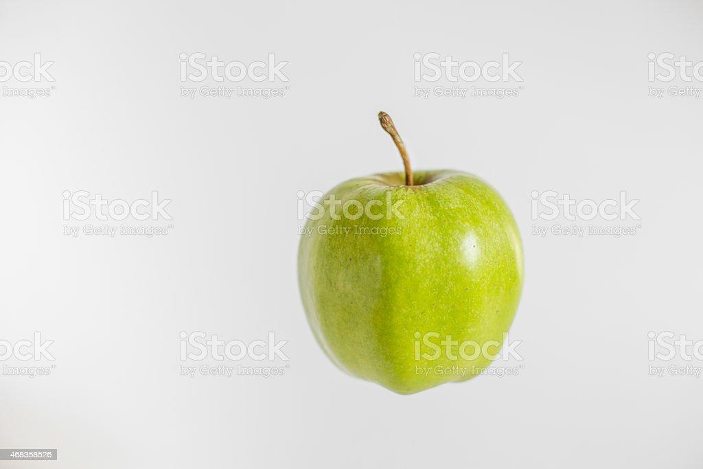 green tasty fresh apple royalty-free stock photo