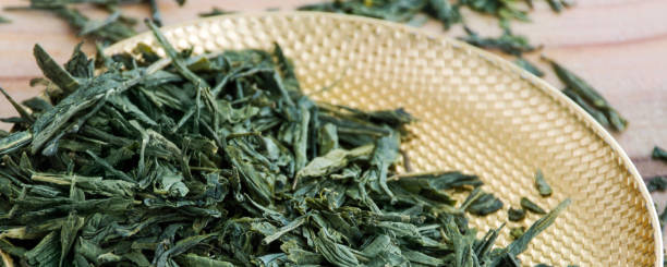Green tea as background banner stock photo