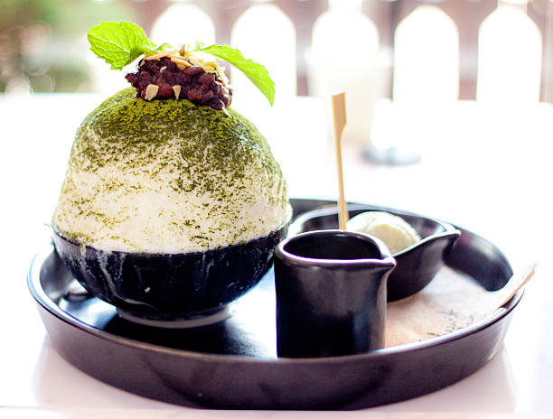 Green Tea Bingsu. 스톡 사진