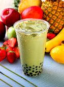 Ice Green Tea Boba