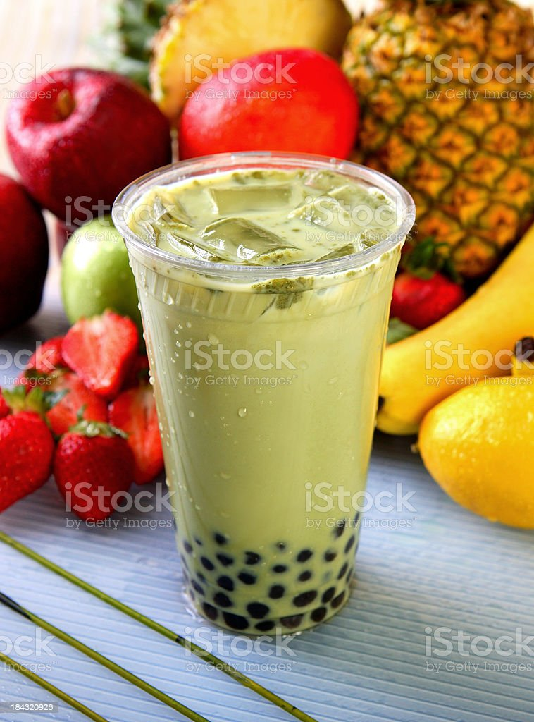 Green Tea Boba stock photo