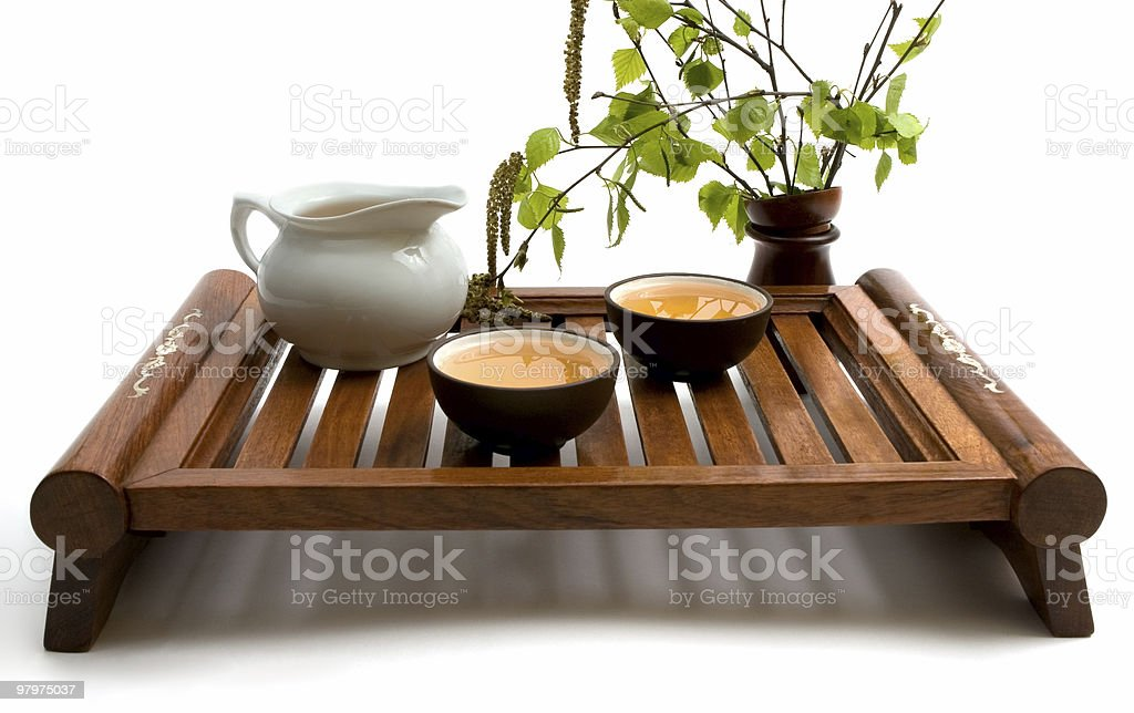 green tea ceremony royalty-free stock photo