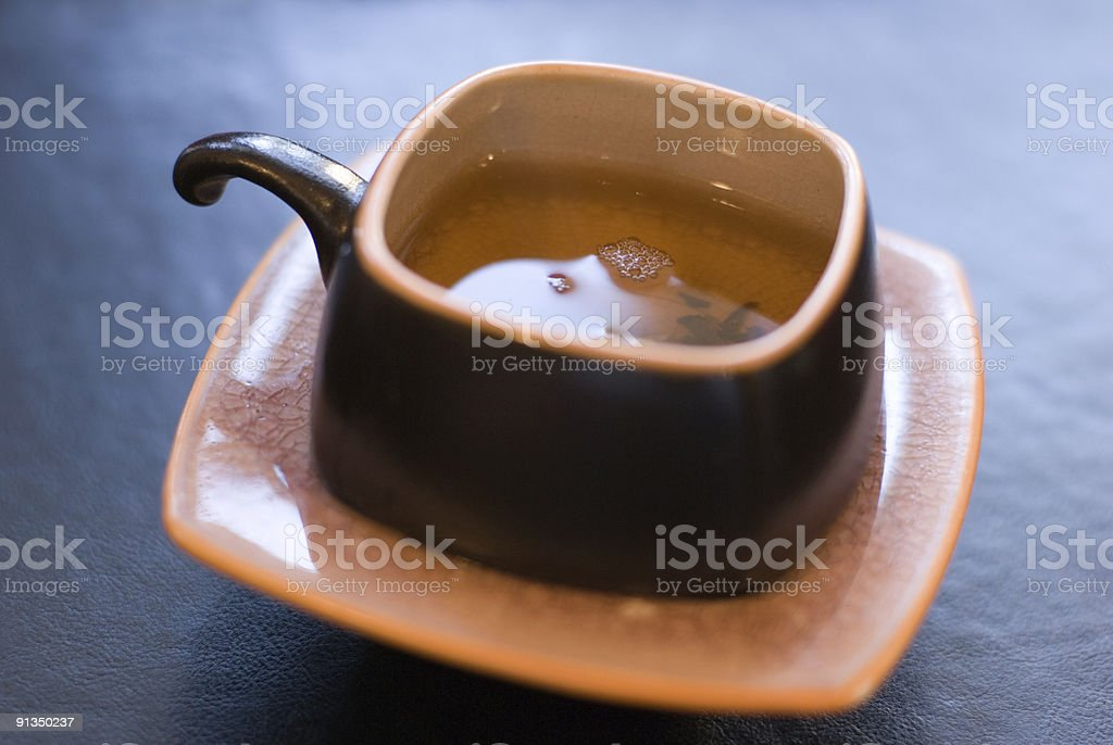 Green tea cup. royalty-free stock photo