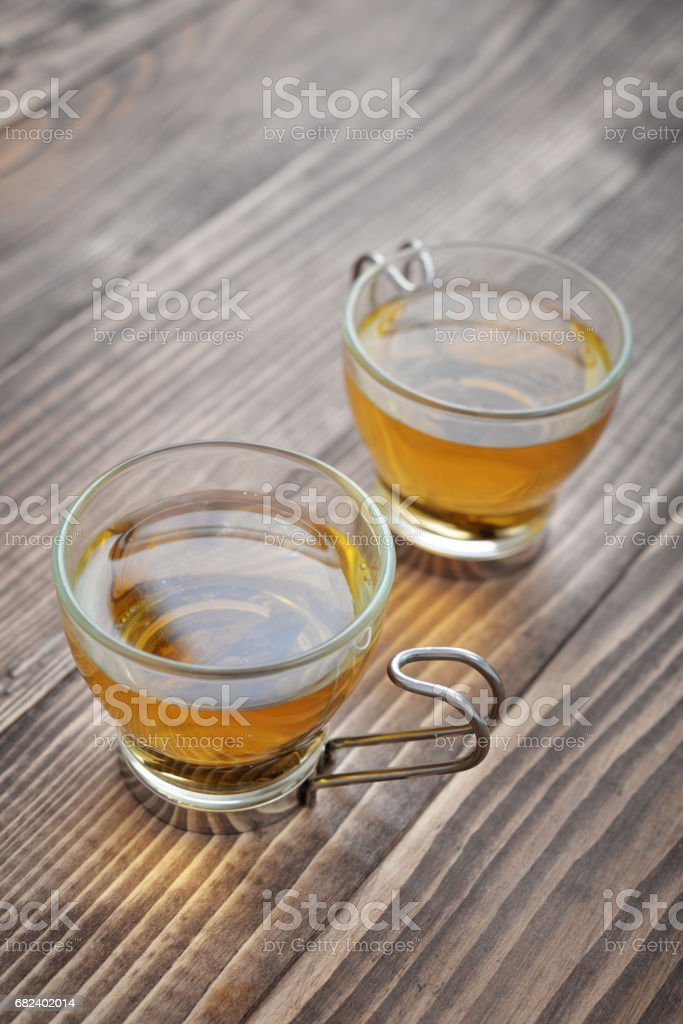 Green tea in a glass small cups royalty-free stock photo
