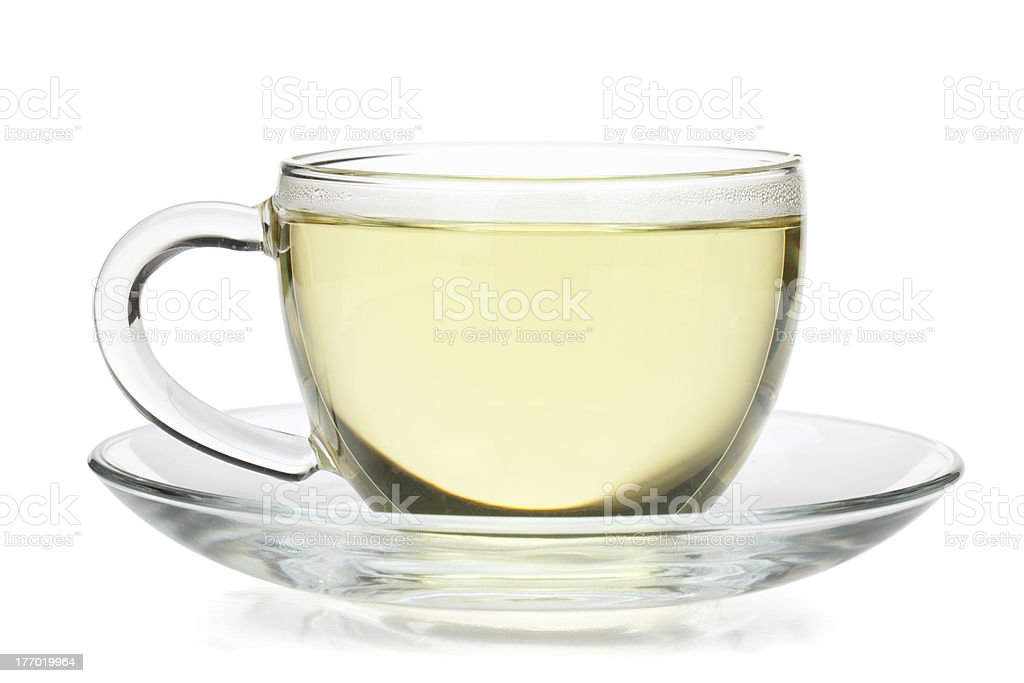 Green tea in glass cup royalty-free stock photo