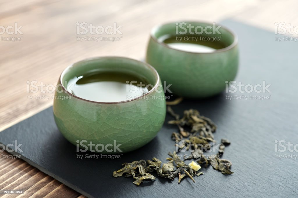 Green tea in tea royalty-free stock photo