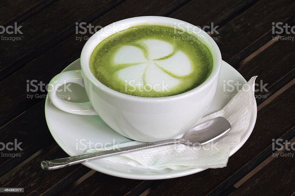 Green tea Latte royalty-free stock photo