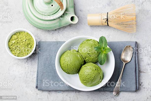 Green tea matcha ice cream scoop in white bowl picture id535405916?b=1&k=6&m=535405916&s=612x612&h=nsnpvapzk ugbrcizut4uq6cex2sobpp6eiofck9y1i=