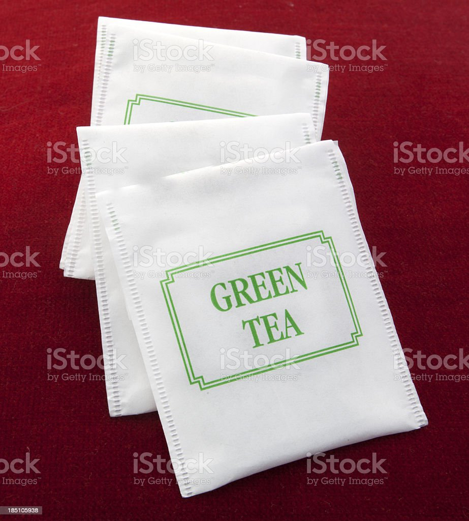 Green Tea Packets royalty-free stock photo