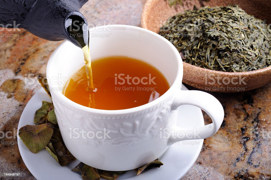Green Tea Green Tea in a Cup. Cup Stock Photo