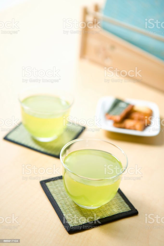 Green tea foto stock royalty-free