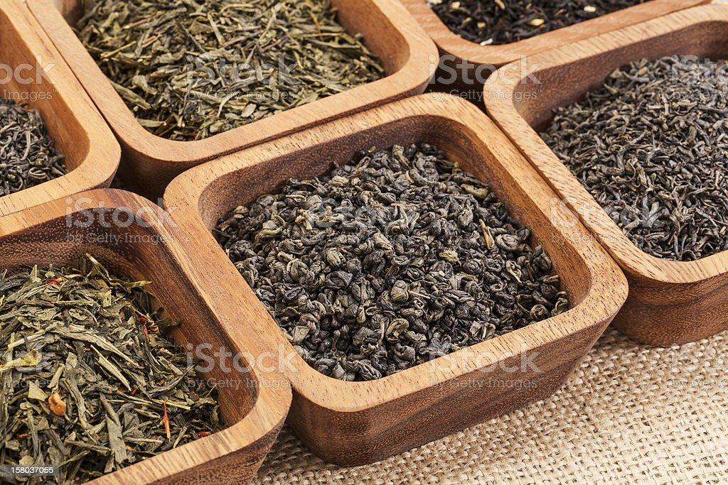 green tea sample set royalty-free stock photo