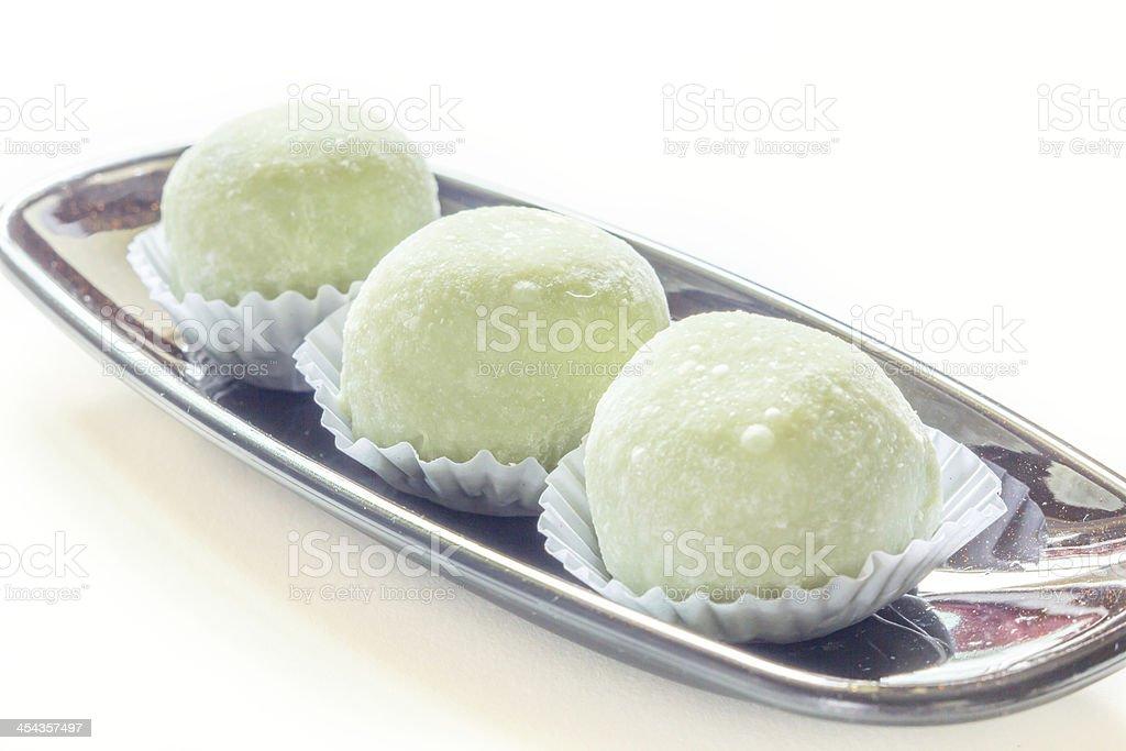 Green tea taste cake royalty-free stock photo
