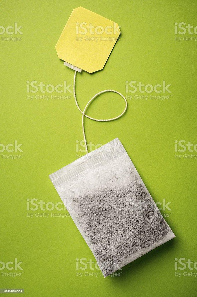 green tea - teabag stock photo