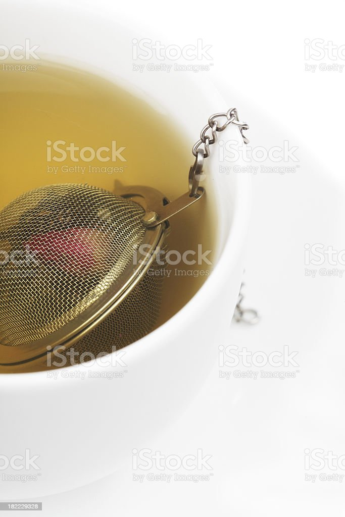 Green Tea with Ball Infuser royalty-free stock photo